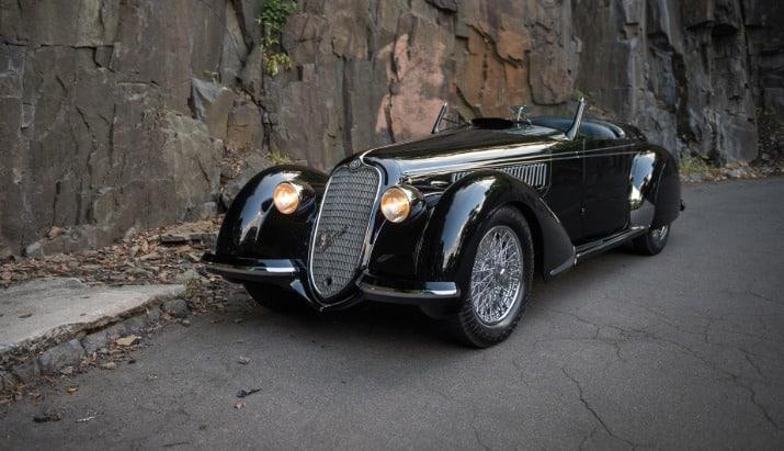 1939 Alfa Romeo 8C 2900B Lungo Spider Los 20 autos más caros del mundo a partir de 2019