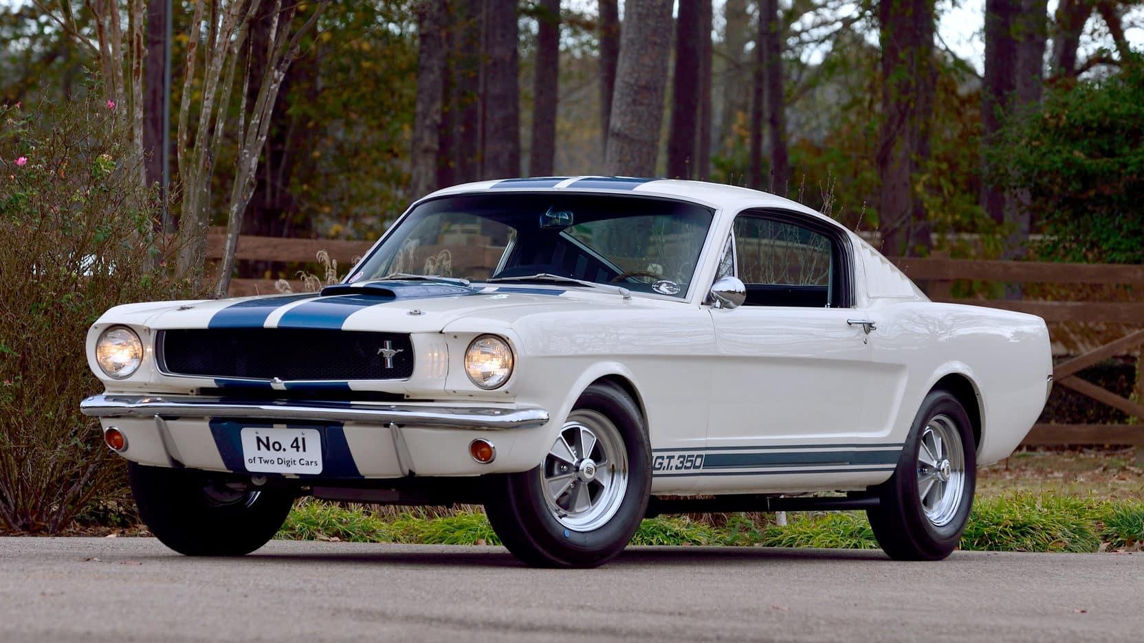 1965 Shelby GT350 Los 10 Ford Mustang más caros de todos los tiempos