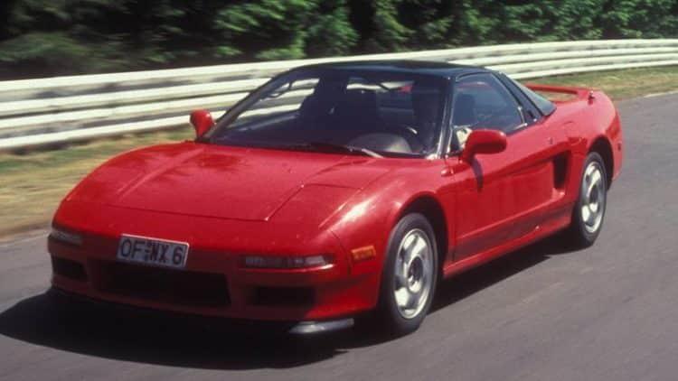 1990 Acura NSX Top 10 Muscle Cars de los 90