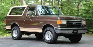 1991 Ford Bronco Los 20 mejores SUV Ford de todos los tiempos