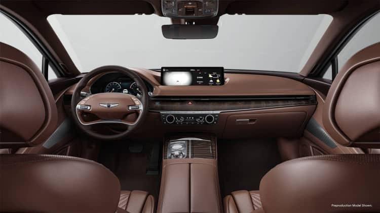 2021 Genesis G80 interior 1