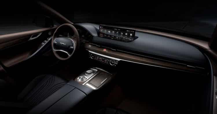 Interior del Genesis G80 2021