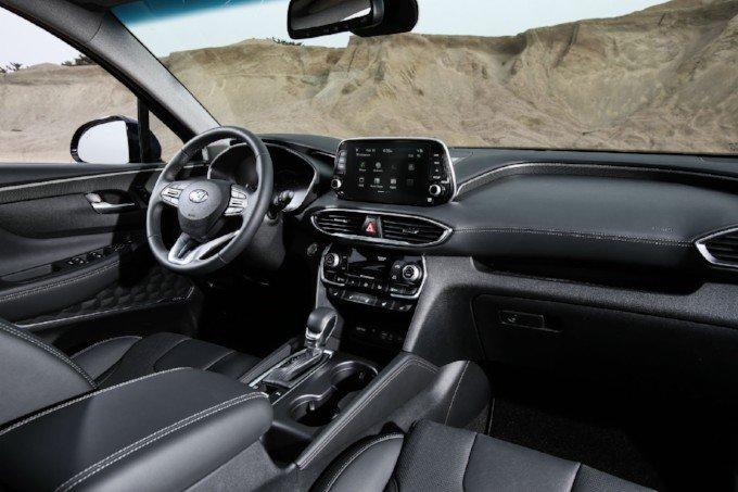 Interior del Hyundai Santa Fe 2021