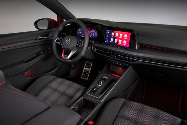 Interior del Volkswagen Golf 2021