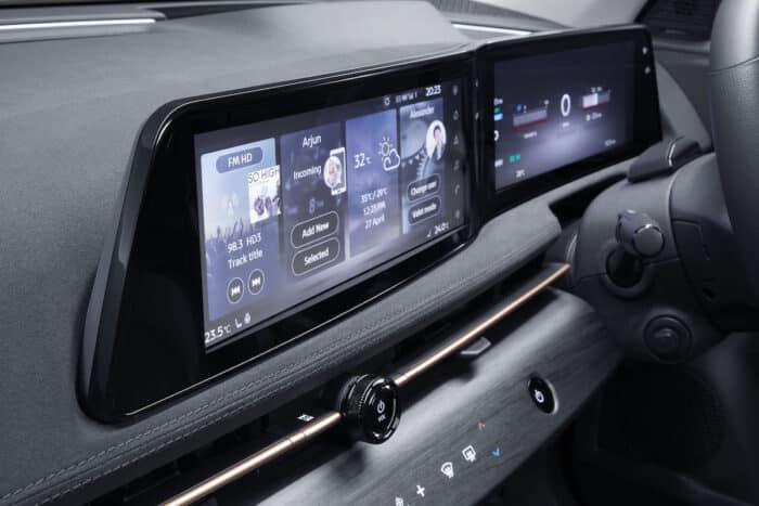 Interior de la SUV eléctrica Nissan Ariya 2022
