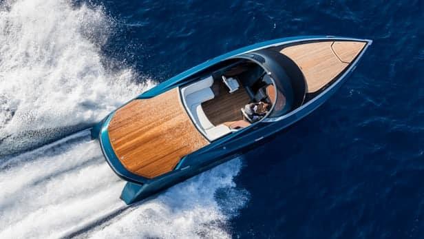 Aston Martin AM37 Powerboat 1 La lancha motora Aston Martin AM37 de 1040 CV