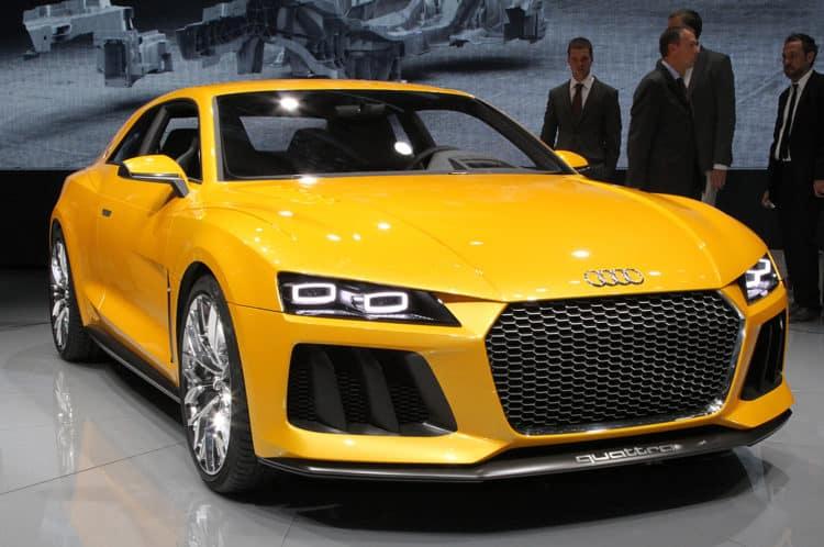 Parte delantera del Audi Sport Quattro Hybrid Concept