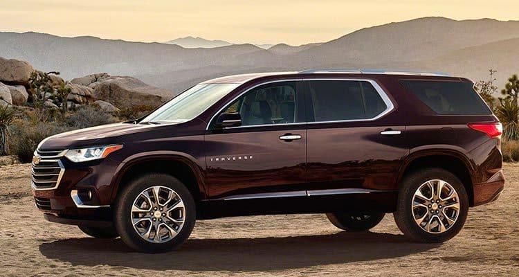 Chevrolet Traverse Los diez SUV más importantes de 2018 a tener en cuenta