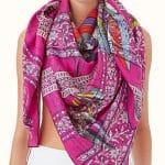 Hermes Pegase au Bloc embroidered scarf 140 Las cinco bufandas Hermes más caras que el dinero puede comprar