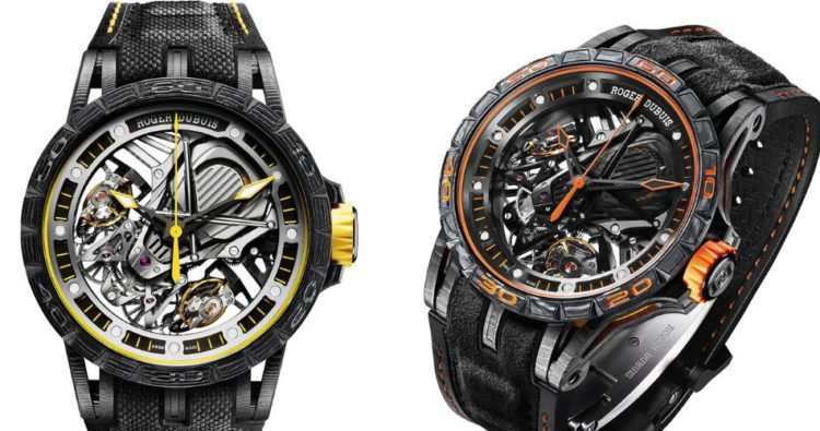 Roger Dubuis The Roger Dubuis Excalibur Aventador S contains real Lamborghini material