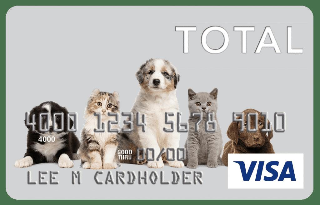 Total VIsa Tarjetas de crédito de aprobación garantizada con límites de $ 1000
