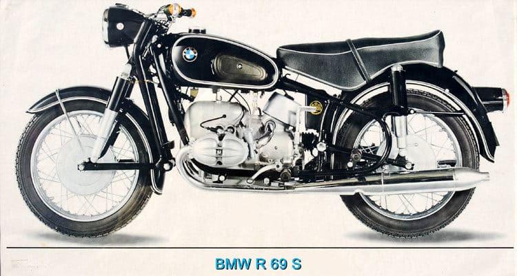 R69s 1967 p贸ster Las cinco mejores motocicletas BMW de la d茅cada de 1960