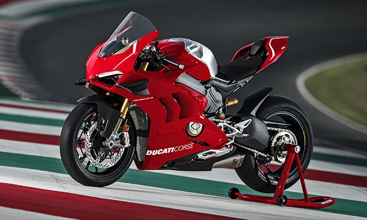 Lado de la Ducati Superleggera V4 2020