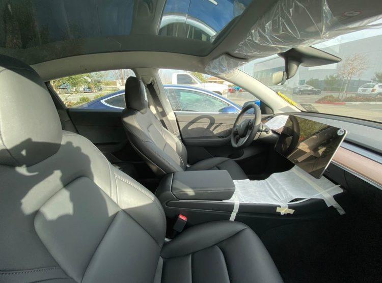 Interior del Tesla Model Y 2020