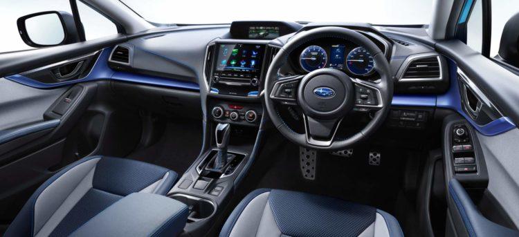 Interior del Subaru Crosstrek 2021