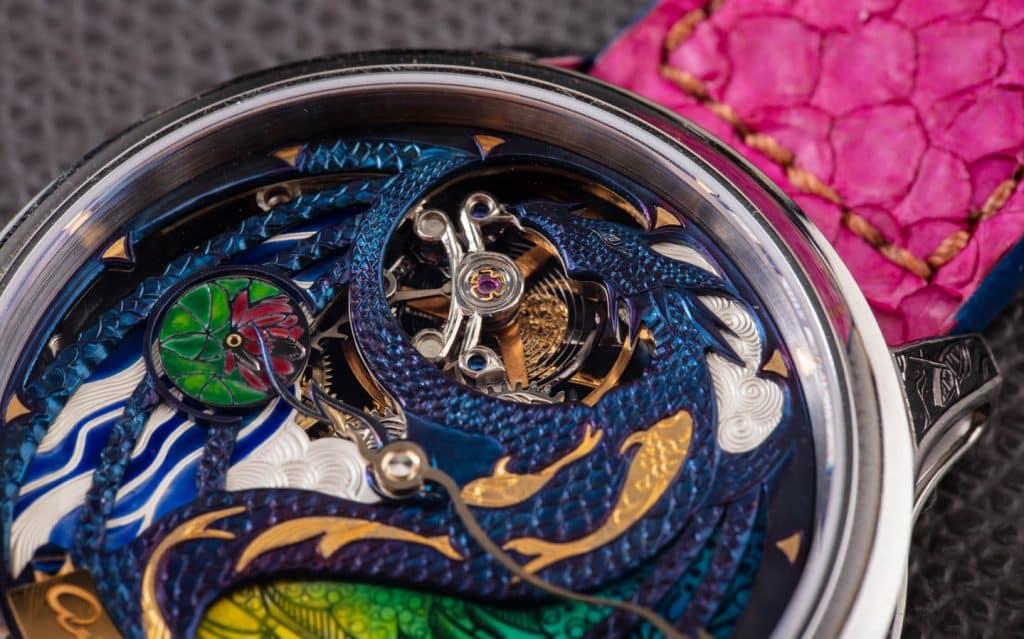 Artur Akmaev Dragon koi watch 10 Una mirada más cercana a Artur Akmaev Rise of the Blue Dragon Watch