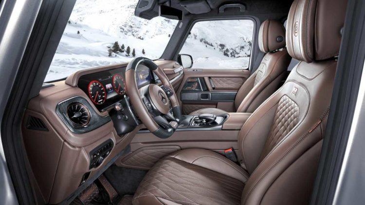 Interior de la camioneta Brabus 800 XLP