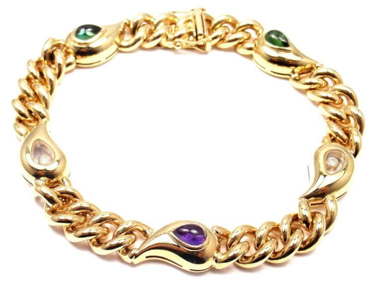 Chopard Gold Rubellite Tourmaline Casmir Bracelet