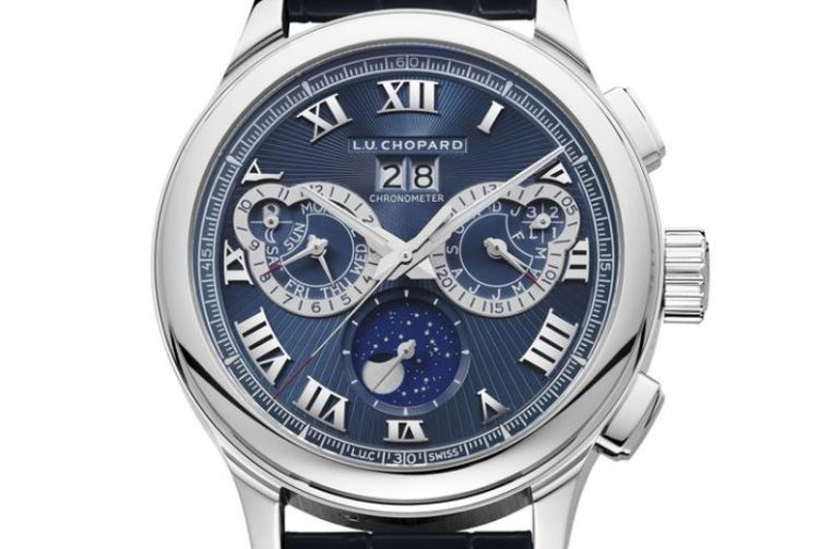 Chopard LUC Perpetual Chrono Platinum and 18K White Gold Men's Watch 161973-9001