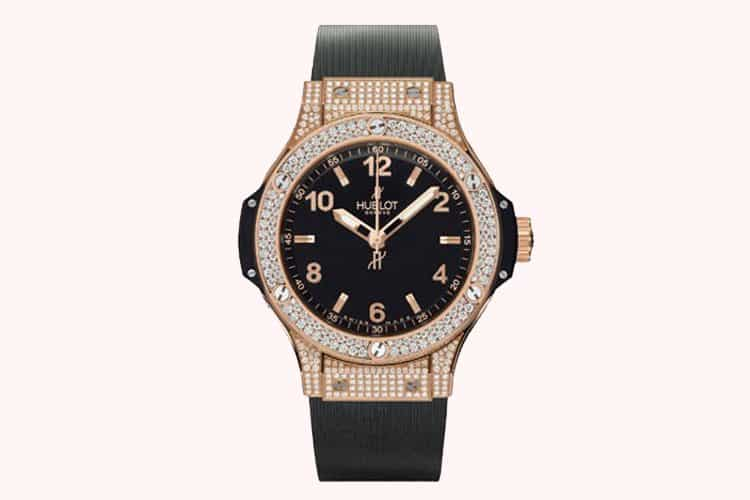 Diamonds and classic rose gold