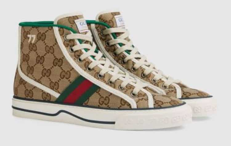 Gucci Tennis 1977 high top trainers
