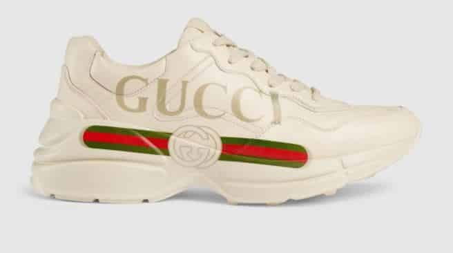 Gucci Rhyton Leather Sneakers for Women
