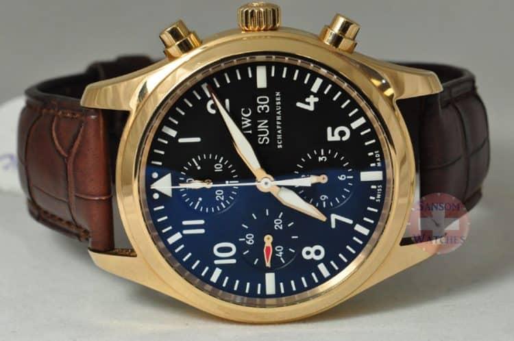Reloj de piloto IWC - Cronógrafo Spitfire en oro rosa de 18 quilates