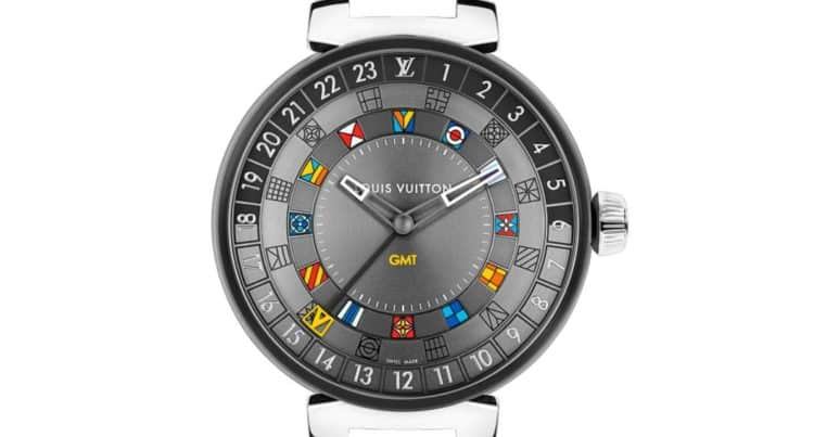 Louis Vuitton Tambour Moon Dual Time Graphite 44