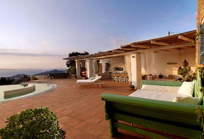 Villa frente al mar con personal de Mykonos