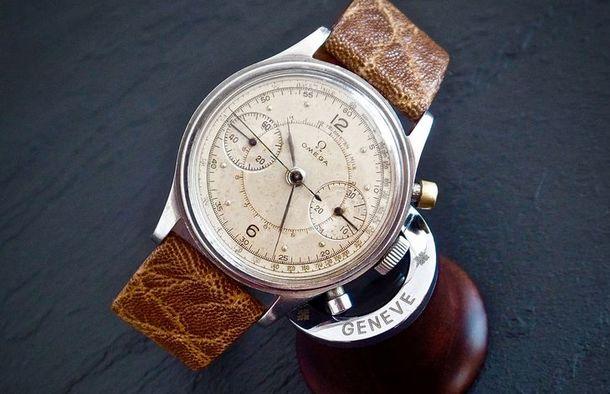 Omega Grail - Reloj militar con cronógrafo para pilotos
