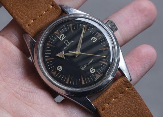 Reloj de buceo vintage Omega Railmaster de acero