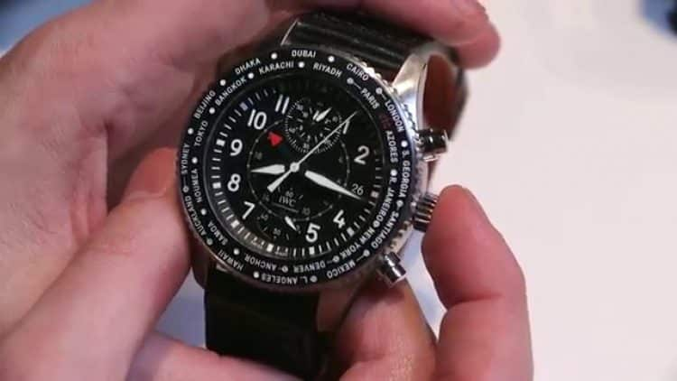 Reloj del piloto cronógrafo timezoner