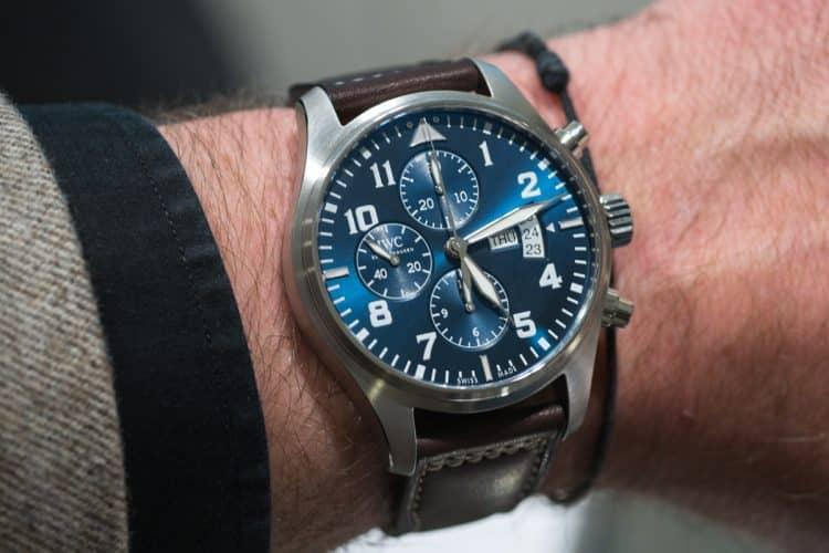El cronógrafo del reloj del piloto
