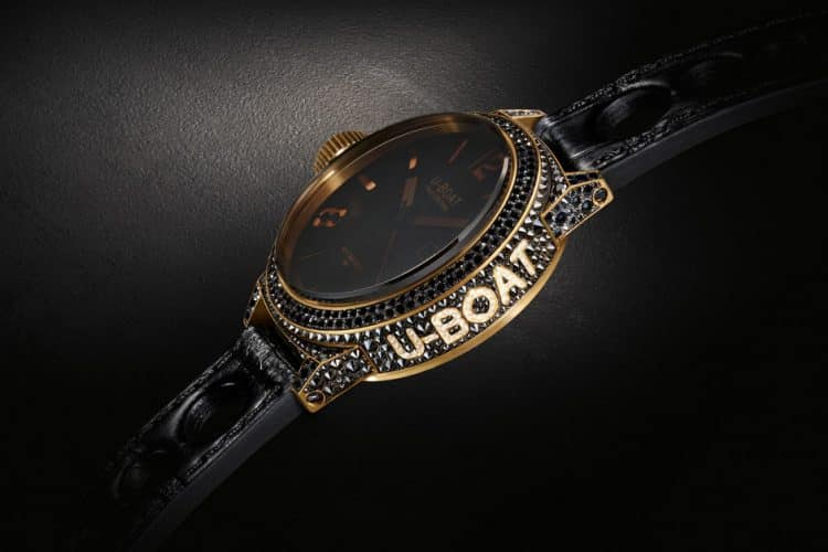 Reloj U-Boat Black Swan Lux Italo Oro y Diamantes