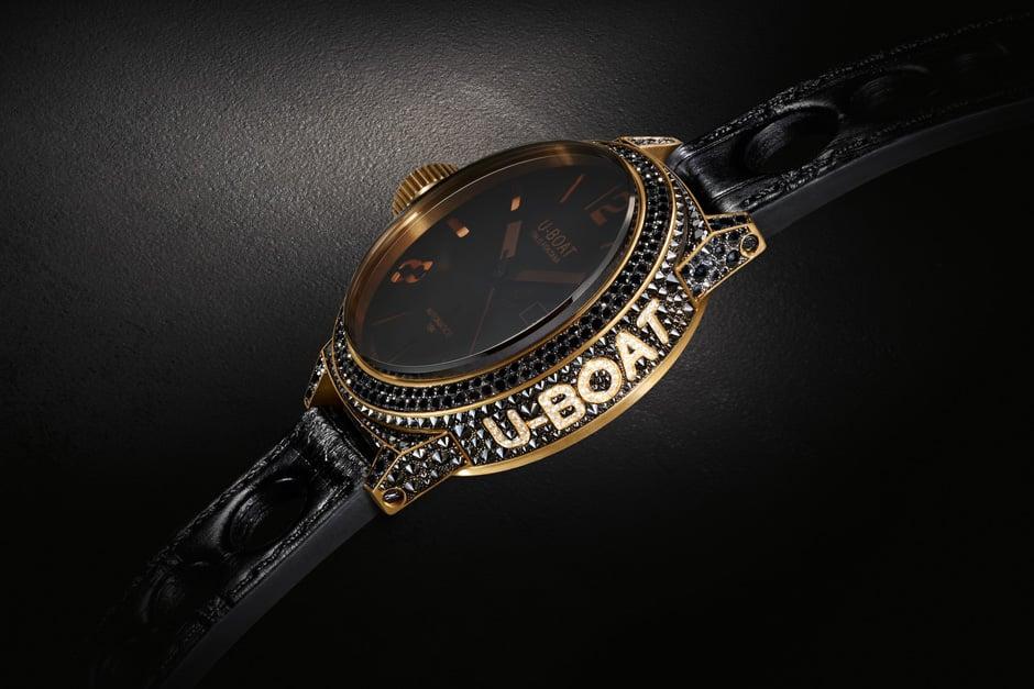 U Boat Black Swan Lux Watch Italo Gold Diamonds Los 10 relojes militares más caros disponibles en la actualidad