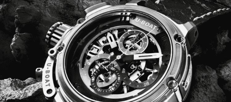 U-Boat watch Chimera titanium watch with skeleton