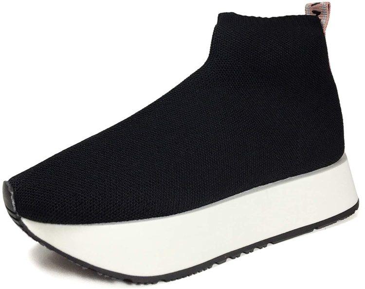 Zara sock-style high-top trainers