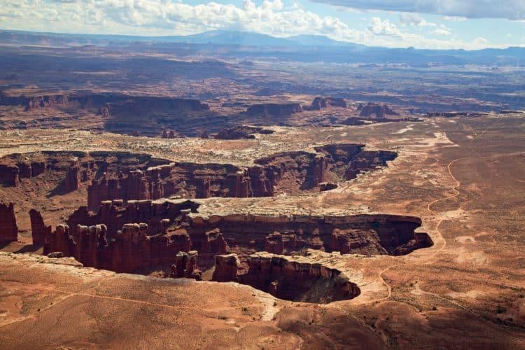 Islas Canyonlands en el cielo