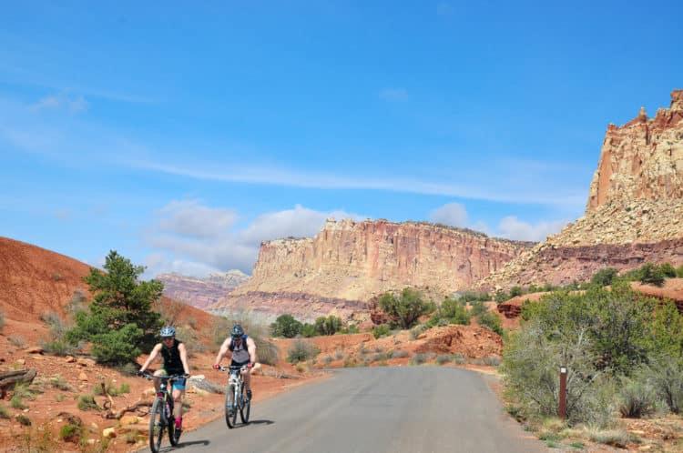recorrido en bicicleta por el Gran Cañón