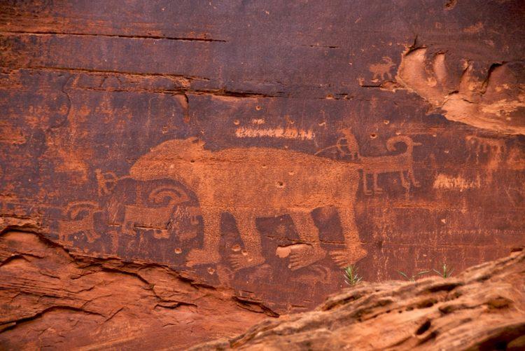 Utah Scenic Byway 279 sitios de arte rupestre