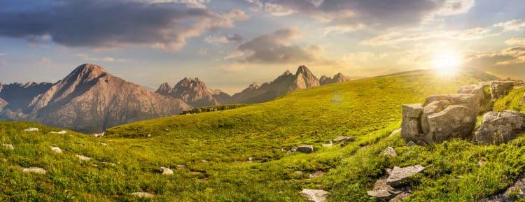 Montaje de montaña