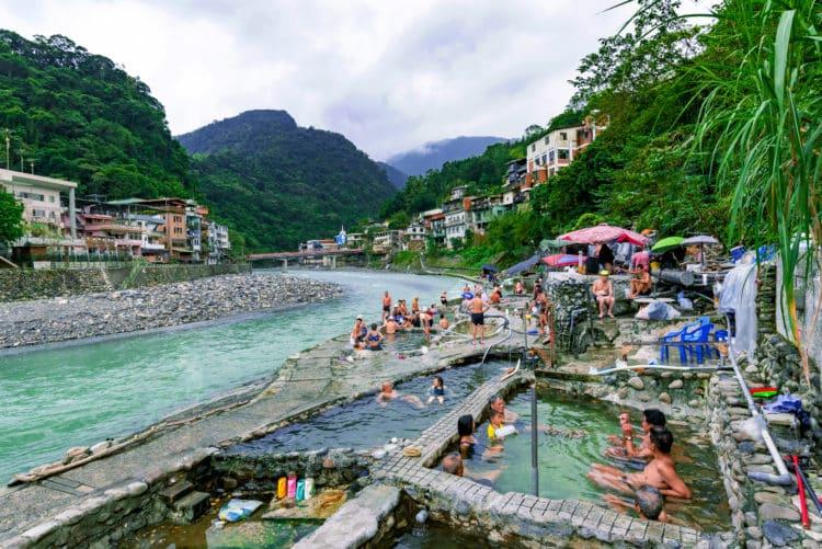 Aguas termales en Wulai