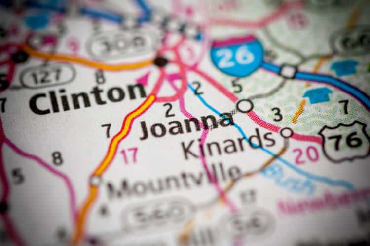 Joanna, Carolina del Sur