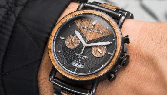 Alterra Chrono 44mm Koa Stonewashed Los 5 mejores relojes de grano originales en el mercado hoy