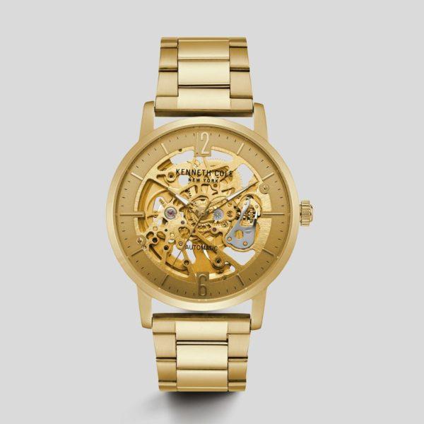 Reloj automático de acero inoxidable en tono dorado Los cinco mejores relojes Kenneth Cole del mercado actual