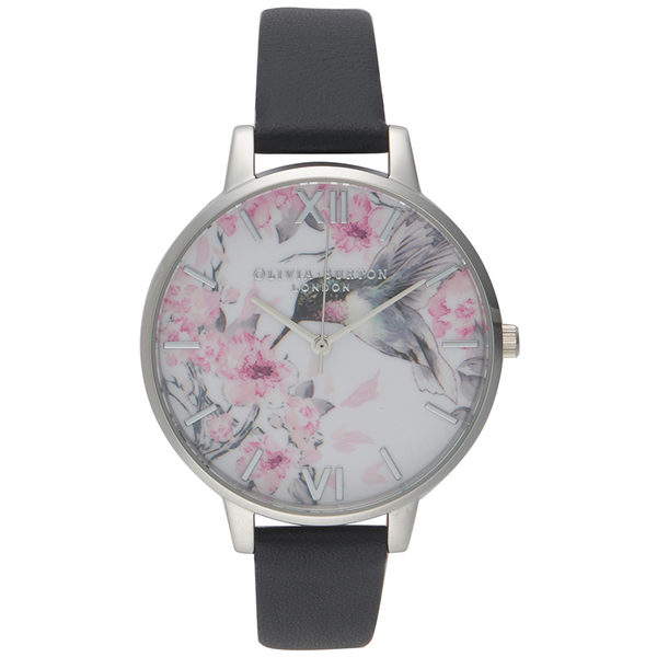 Olivia Burton Painterly Prints London Grey and Silver Watch Los 5 mejores relojes Olivia Burton del mercado actual
