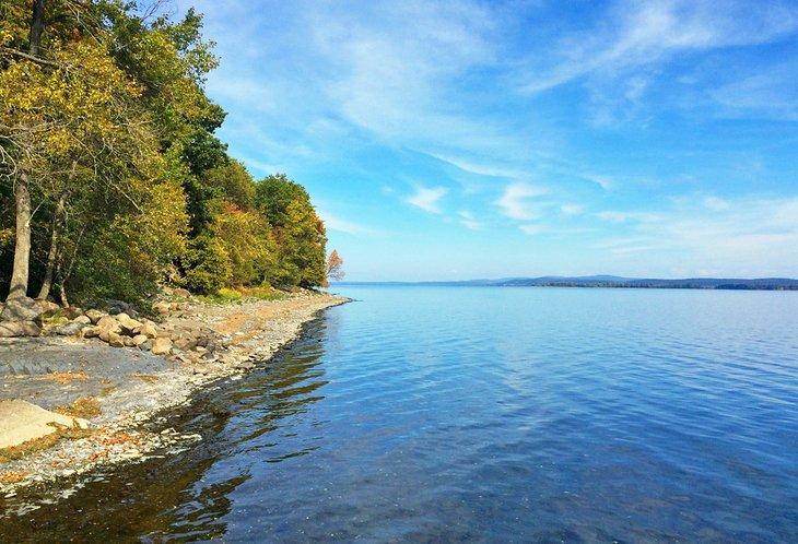 Parque estatal Grand Isle en el lago Champlain