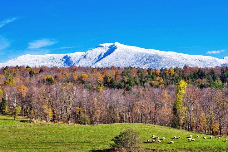 Monte Mansfield cubierto de nieve