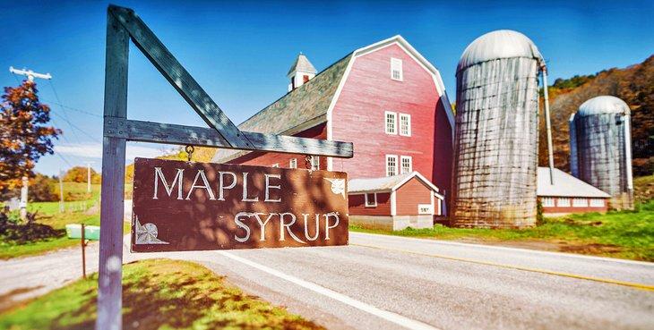 Granja de jarabe de arce en Vermont