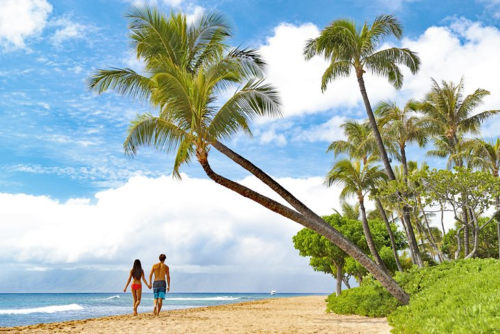 Caminando por la playa de Kaanapali, Maui